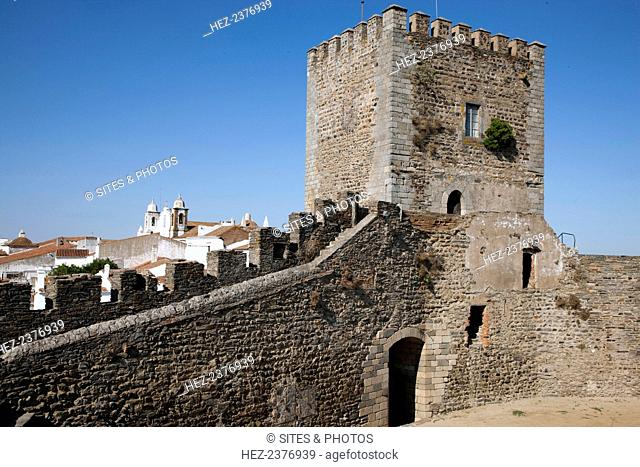 Monsaraz Castle, Portugal. 2009. Monseraz Castle was built in the 14th century during the reign of King Denis. Monsaraz is a small fortified medieval village...