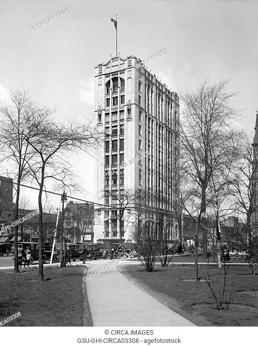 Fyfe Building, Detroit, Michigan, USA, Detroit Publishing Company, 1920