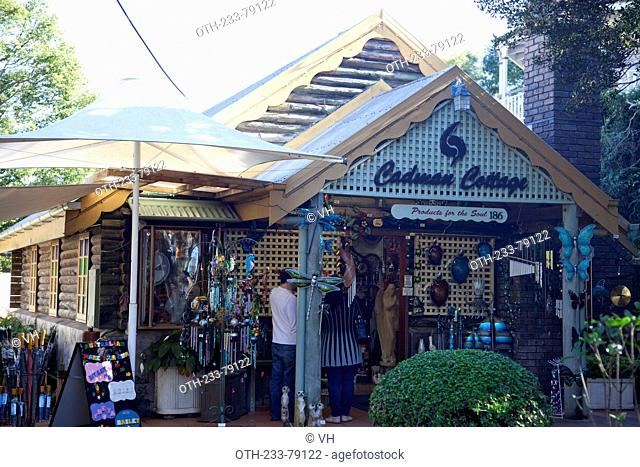 Montville, a small town in the Sunshine Coast Hinterland, home to art galleries, cosy coffee shops and boutique stores, Sunshine Coast, Queensland, Australia