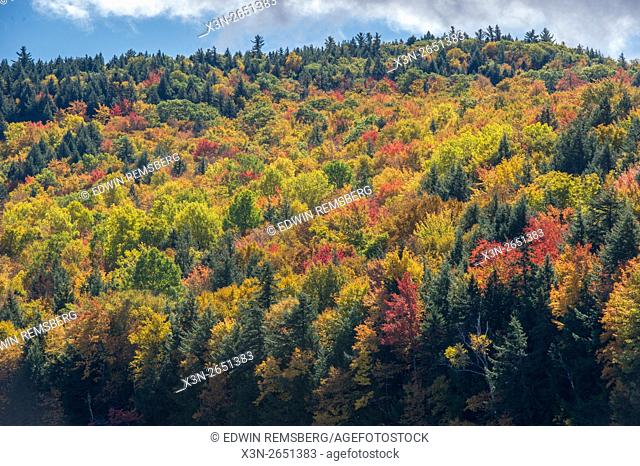 Fall foliage in Bryant Pond, Maine