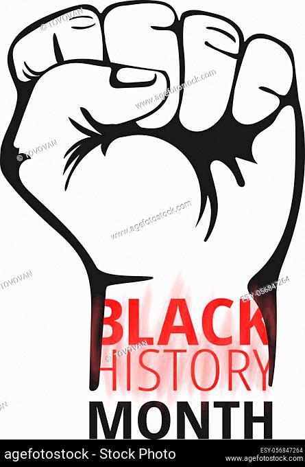 Black History Month concept. Vector illustration