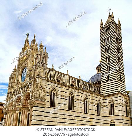 The Cathedral di Santa Maria Assunta in Siena, Italy