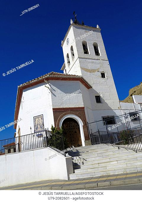 Church of Purullena. Mudéjar art, 15th Century. Granada. Andalusia. Spain