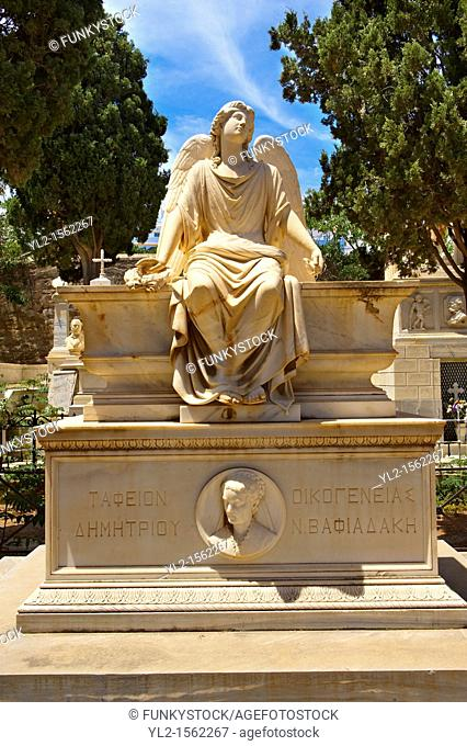 Neo Classic Tombs of Saint George Cemetery  Syros µt   Ge  Ermoupolis, Syros Island  S  , Greek Cyclades Islands