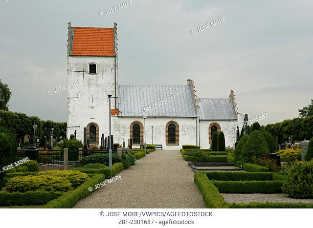 Bjällerups church, near Staffansport, is one of the oldest Romanesque buildings in the Scania countryside, and also one of the best preserved