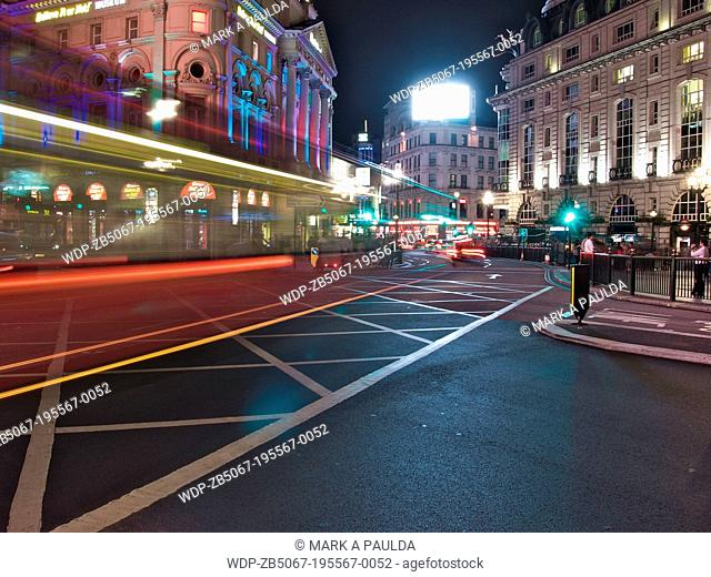 Picadilly Circus at night, London, UK