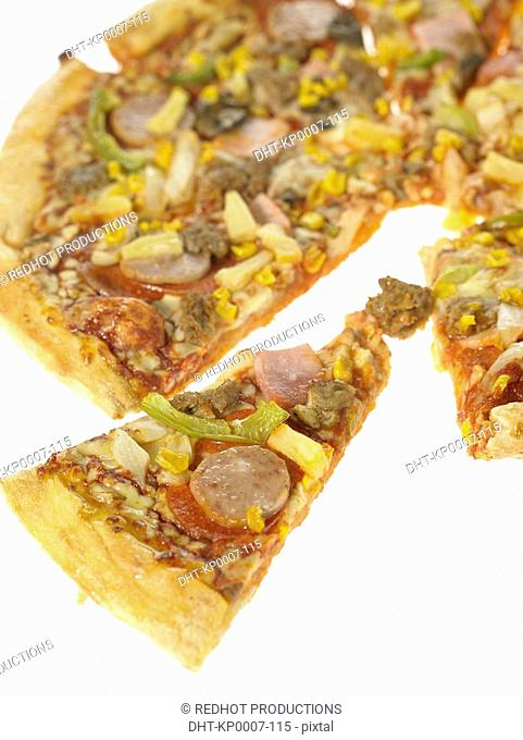 One Takeaway Pizza with various toppings