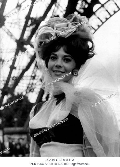 Sept. 18, 1964 - Paris, France - American actress NATALIE WOOD, in a scene from the film, 'The Great Race.' Born Natasha Gurdin