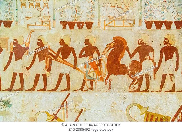 UNESCO World Heritage, Thebes in Egypt, Valley of the Nobles, tomb of Userhat (number 56, as there are other tomb owners called Userhat)