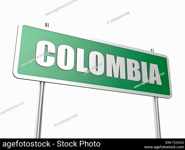 Colombia concept image with hi-res rendered artwork that could be used for any graphic design