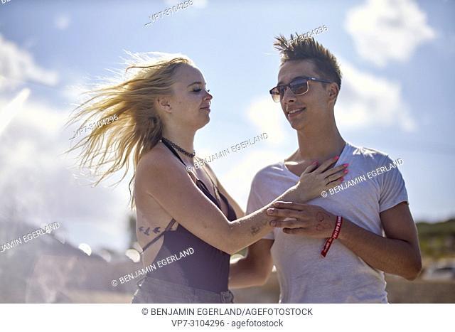 Greece, Crete, Chersonissos, couple outdoors