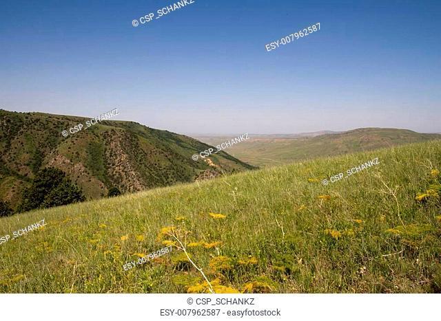 beautiful mountains in Kazakhstan. nature