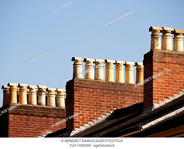 Chimney stacks, Oxford, UK