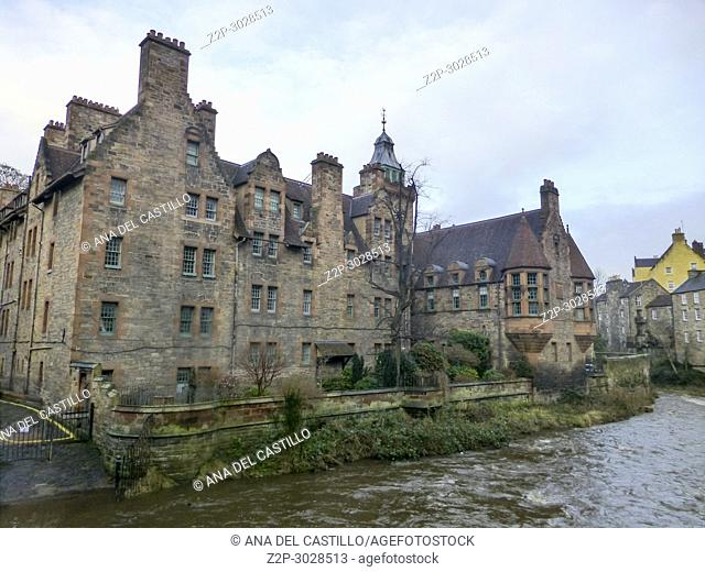 Impression of Dean Village in Edinburgh -Scotland