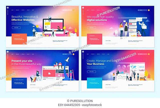Modern vector illustration concepts of web page design for website and mobile website development. Easy to edit and customize