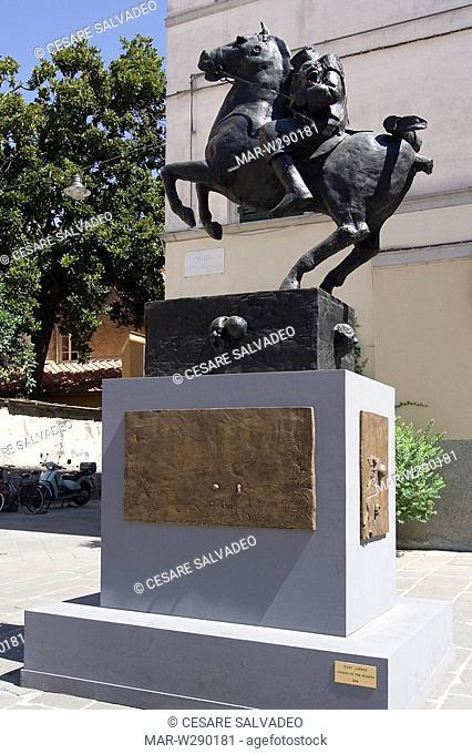 europe, italy, toscana, pietrasanta, sculpture legend of hudson of julio larraz
