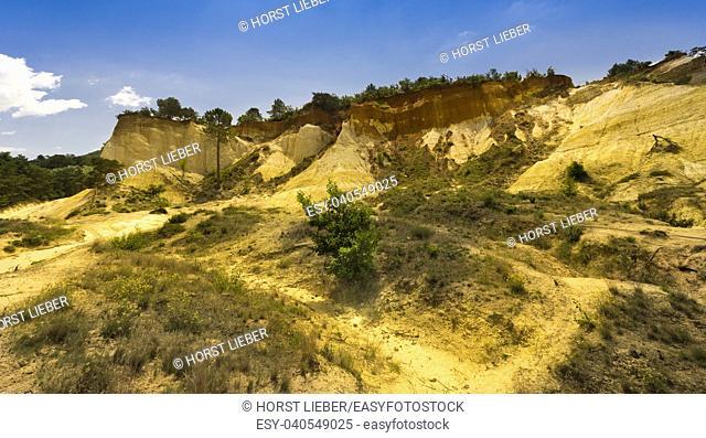 Ocher quarry the Colorado from Rustrel. Vaucluse, Provence, France