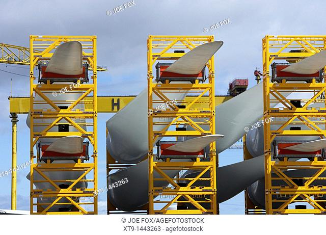 blades for the construction of wind turbines at harland and wolff shipyard belfast northern ireland