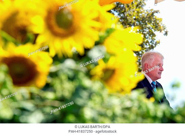 Premier of Bavaria Horst Seehofer (CSU) speaks at the meeting of patriots organized by the Association of Royalists on the occasion of the Battle of Gammelsdorf...