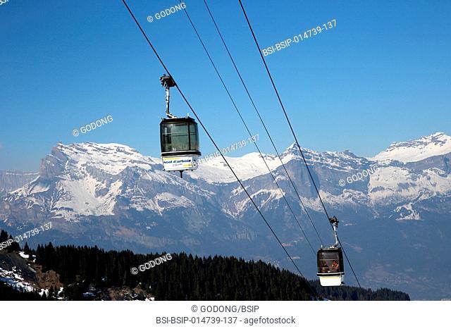 Gondolas in Saint-Gervais les Bains
