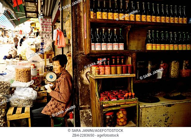 Local product shop in Central district, Hong Kong Island, Hong Kong, China, East Asia