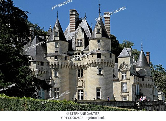 CHATEAU D'USSE, BUILT BETWEEN THE 15TH AND 17TH CENTURIES, THE MODEL FOR SLEEPING BEAUTY'S CASTLE, RIGNY USSE, INDRE-ET-LOIRE 37, FRANCE