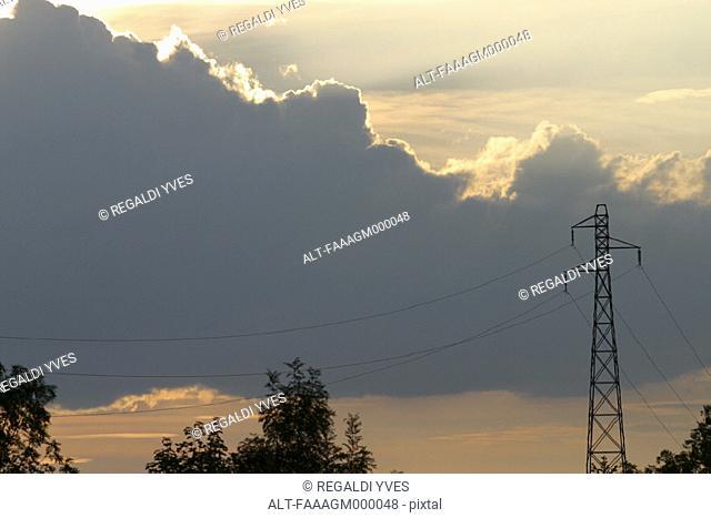 Pylon and cloudscape