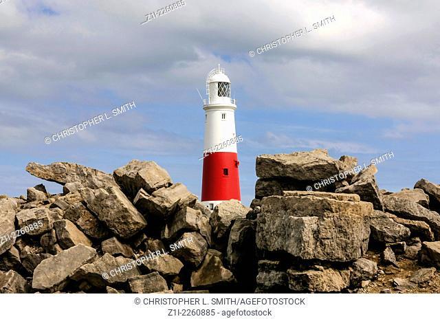 Portland Island Lighthouse Dorset England