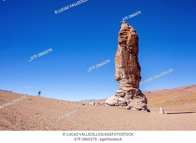Monjes de Pacana (Monks of Pacana), Volcanic rock formation, pyroclastic bombs, Altiplano, Puna, in Salar de Aguas Calientes, and near Salar de de Tara