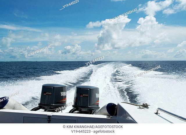 Sea in Maldives Island, Indian Ocean