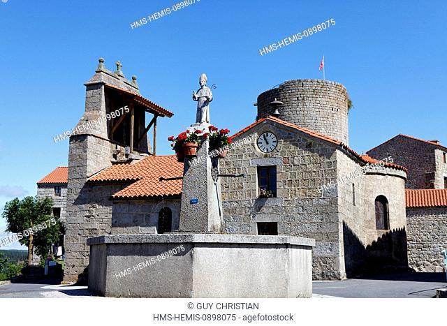 France, Haute Loire, Gevaudan, mountains of Margeride, Esplanta, Castle feudal