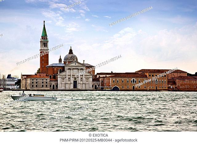 Church on an island, Church of San Giorgio Maggiore, San Giorgio Maggiore, Venice, Veneto, Italy