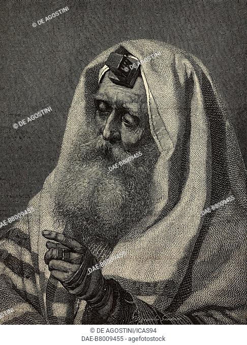 Portrait of an Ashkenazi Jew, engraving after a watercolour painting by Carl Haag, from The Illustrated London News, No 1872, June 26, 1875