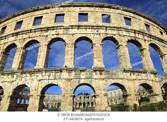 Croatia, Pula, Arena, Amphitheatre