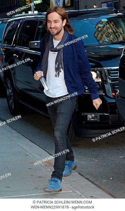 Celebrity guests arrive for 'The Late Show with Stephen Colbert' Featuring: Tame Impala Where: NYC, New York, United States When: 08 Oct 2015 Credit: Patricia...