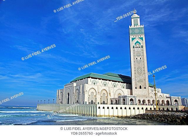 Hassan II Mosque Panoramic, Casablanca, morocco