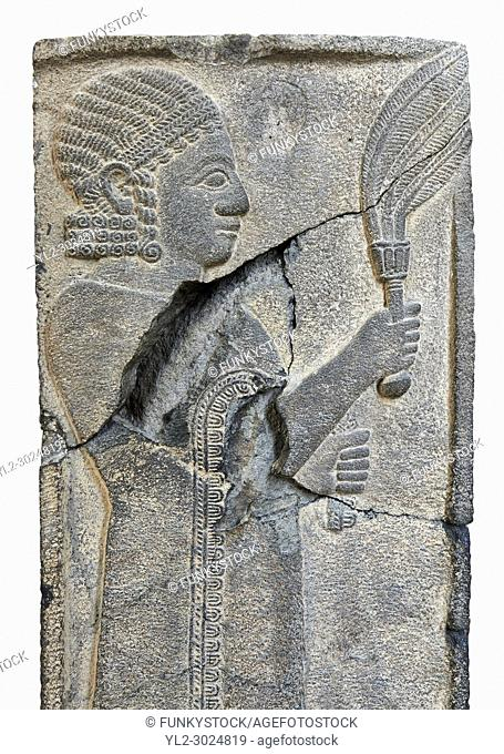 Relief panels orthostat from Sam 'al /Zincirli. Neo Syro Hittite. Basalt around 730 BC. Vorderasiatisches Museum, Pergamon Museum, Berlin