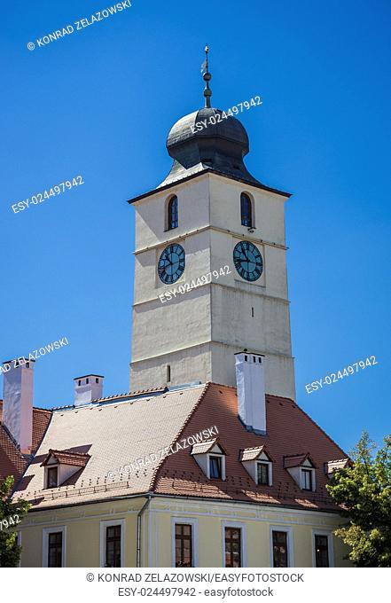 Council Tower in Sibiu city in Romania