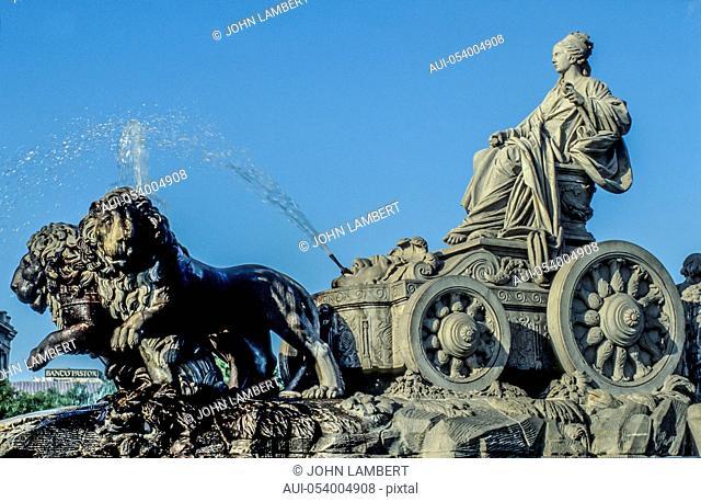 spain, madrid, cibeles monument