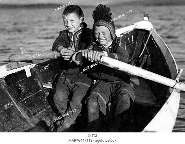 children, lapland, finland 1930-40
