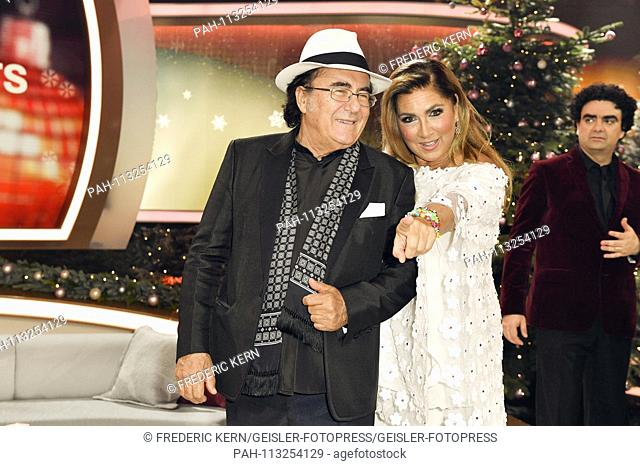Al Bano and Romina Power at the ZDF TV donation gala 'The most beautiful Weihaftertshits' live from the Bavaria Studios Geiselgasteig. Munich, 05.12