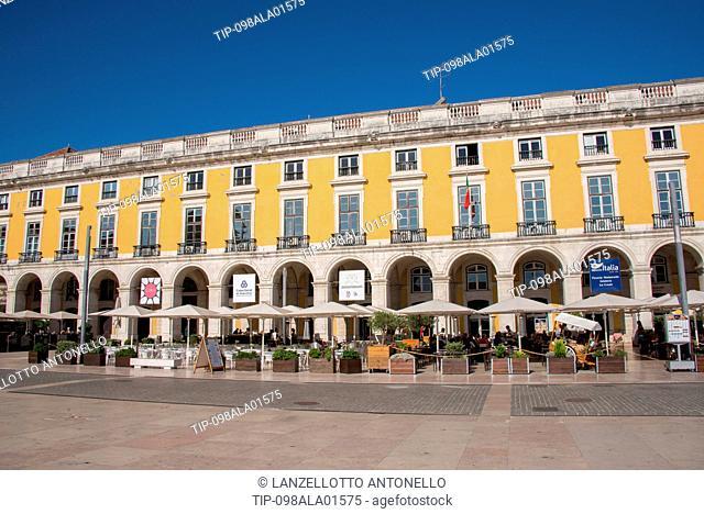 Europe, Portugal, Lisbon, Baixa, Do Comercio Square