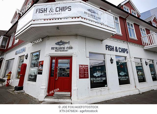 Reykjavik fish and chips restaurant iceland