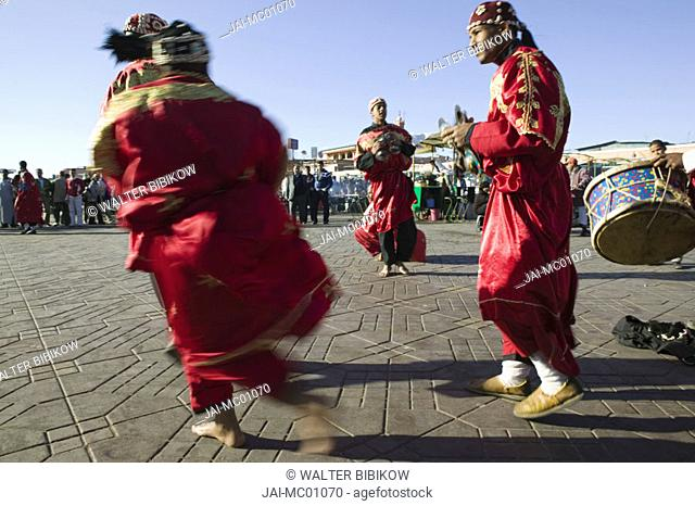 Gnouia Folkloric Dancers, Djemma el-Fna Square, Marrakash, Morocco