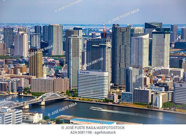 Japan, Tokyo City, Kachidoki district
