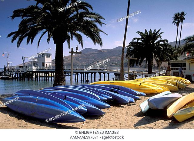 Sea Kayaks at Two Harbors, Catalina Island, California
