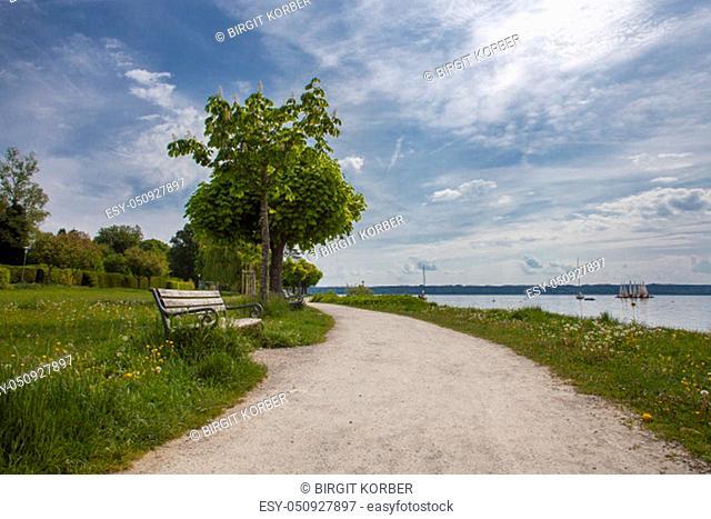 Lake promenade at Starnberger See, Bavaria