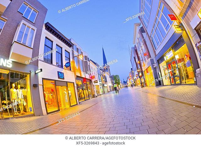 Street Scene, Traditional Architecture, Breda, Noord-Brabant Province, Holland, Netherlands, Europe