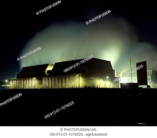 Steam rising from the cooling towers at Powergen gas-fired power station at Killingholme