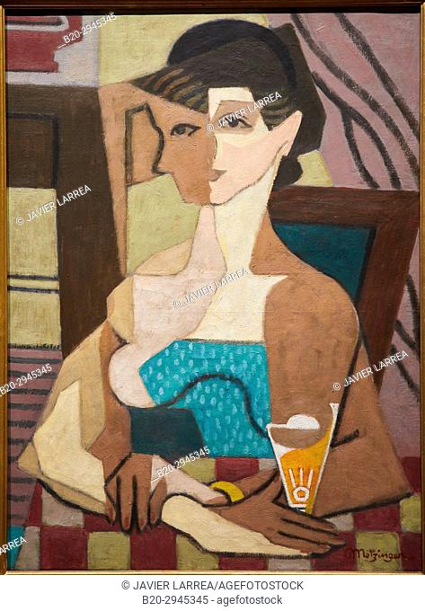 Femme face et profil ou Femme au verre, 1919, Jean Metzinger, Musée d'Art Moderne, Troyes, Champagne-Ardenne Region, Aube Department, France, Europe